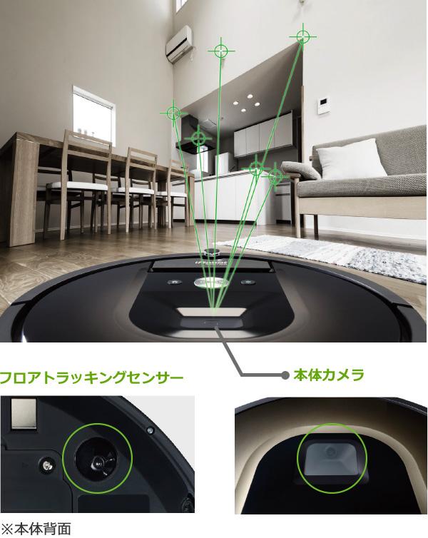 ルンバのセンサーとカメラで部屋をマッピング